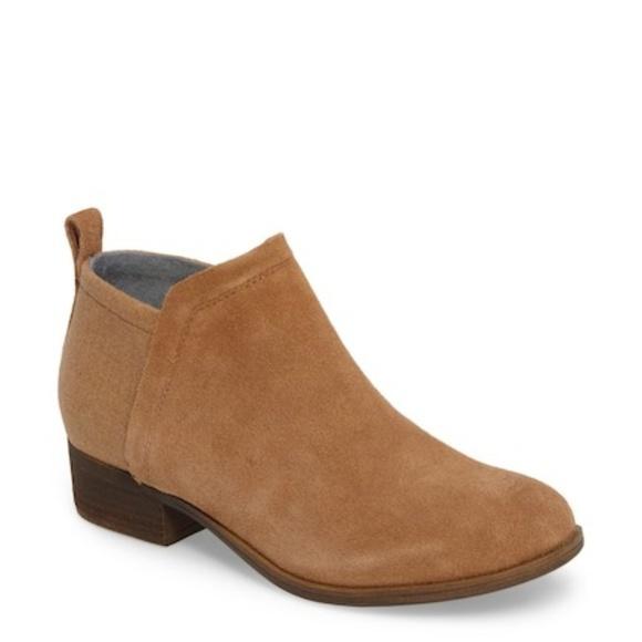 7d81c8a546e TOMs Deia Light Brown Bootie Suede Ankle Boot 7.5